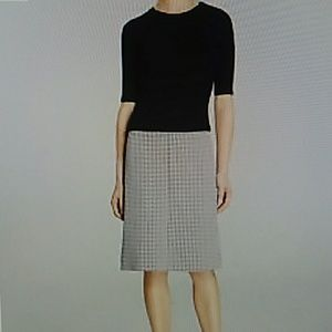 Theory Josefina mixed media sweater dress small